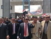 فيديو وصور.. مسيرة حاشدة من جامعة العريش وصحة دمياط دعما للاستفتاء