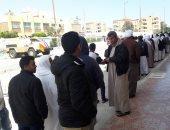 طوابير ممتدة للمشاركين فى الاستفتاء بمركز بئر العبد بسيناء