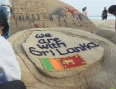 فيديو .فنان تشكيلى هندى يصنع مجسم رملى تضامنا مع ضحايا تفجيرات سريلانكا