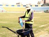 شاهد أعمال تجديد وتطوير استاد الإسماعيلية قبل كأس الأمم الأفريقية
