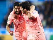 كل أهداف الثلاثاء.. برشلونة يواصل انتصاراته في الليجا بثنائية ضد ألافيس