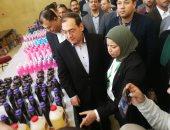 وزير البترول يتفقد معرض المنظفات المنزلية لشركة بتروتريد.. فيديو وصور