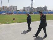 عامر حسين يتفقد عمليات التطوير بملعب الإسكندرية