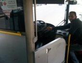 سواق أتوبيس يترك الركاب فى الحافلة نصف ساعة ويذهب لتقاضى الراتب بالمعادى