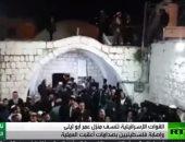 شاهد.. الاحتلال يحمى مستوطنين اثناء تدنيسهم قبر يوسف بمدينة نابلس