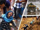 """صور.. العالم هذا الصباح.. المئات يشاركون فى دفن ذويهم من ضحايا هجمات سريلانكا الإرهابية.. والجيش الكندى يشن حملة إنقاذ للمتضررين من الفيضانات.. والآلاف يحيون ذكرى انهيار مبنى """"رنا بلازا"""" فى بنجلاديش"""