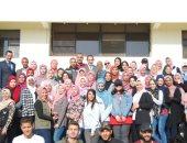 صور.. شباب المبدعين بجامعة قناة السويس يجملون مدينة الإسماعيلية الجديدة