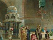 """لوحة """"الصلاة فى مسجد السلطان حسن"""" للبيع فى لندن.. اعرف السعر"""
