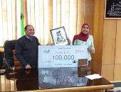 طالبة بزراعة سوهاج تحصد 100 ألف جنيه لصنعها سماد صديق للبيئة