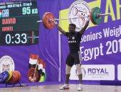 البطل أحمد سعد يكسر رقم إفريقى ويفوز بـ3 ذهبيات فى رفع الأثقال