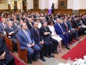 فيديو.. وزيرا الهجرة وقطاع الأعمال فى الكنيسة الأنجيلية للتهنئة بعيد القيامة