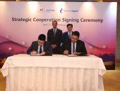 وزير الاتصالات يشهد توقيع اتفاقيات ومذكرات تفاهم مع شركات عالمية