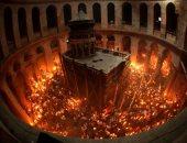 """""""النار المقدسة"""" فى كنيسة المهد.. حقيقة إضاءة قبر المسيح قبل عيد القيامة"""