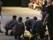 شاهد لحظة وفاة عارض أزياء برازيلى على المسرح فى ساوباولو