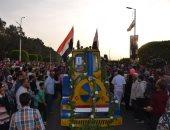 صور.. محافظ الإسماعيلية ومدير الأمن يشهدان مراسم انطلاق كرنفال عربات الزهور
