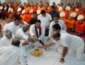 الرئيس السريلانكى يشارك باحتفال بوذى تكريما لضحايا الهجمات الإرهابية