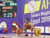 محمد سليم يفوز بذهبيتان وفضية فى وزن 96 بمنافسات أفريقيا لرفع الاثقال