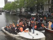 شاهد.. كيف احتفل الهولنديون بعيد ميلاد الملك وليام ألكساندر