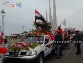 فيديو.. موكب زهور بعشرات السيارات يطوف كورنيش الأسكندرية