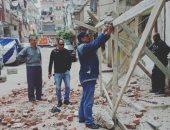 انهيار جزئى بعقار شرق الإسكندرية بدون إصابات