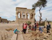 الآثار تنتهى من أعمال تطوير منطقة معبد فيلة الأثرية.. اعرف ماذا تم؟