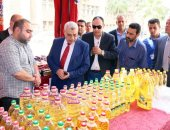 """نائب رئيس جامعة طنطا يفتتح معرض """"سوبر ماركت أهلا رمضان""""للسلع الغذائية"""