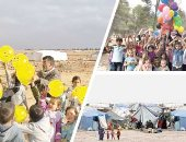 """جعلونى لاجئاً """" الحلقة الثانية .. أطفال سوريا بالمخيمات حياة تقاوم الموت..3.5 مليون طفل سورى لاجئ يعيشون أوضاعا صعبة و94% منهم تحت خط الفقر .. أمل بنت الـ16 فرقت الحرب شمل أسرتها .. ومحمد ابن الـ14 مهدد بالشلل"""