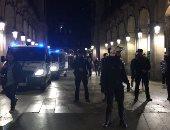 المتظاهرون يشعلون الحرائق فى شوارع إقليم كتالونيا
