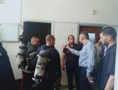 السيطرة على حريق فى كابل كهرباء داخل مستشفى أسيوط الجامعى