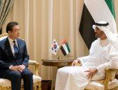 الشيخ محمد بن زايد يستقبل عمدة سيول لبحث علاقات الصداقة والتعاون