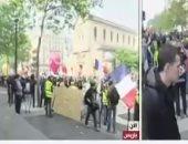 صدامات بين الشرطة الفرنسية وعناصر السترات الصفراء خلال مسيرة فى باريس
