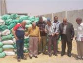 سكرتير جنوب سيناء يشهد توريد الأقماح المحلية لمطحن الطارق