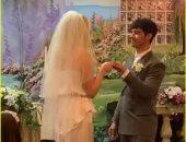 """سانسا اتجوزت"".. شاهد حفل زفاف جو جوناس وصوفى تيرنر فى لاس فيجاس"