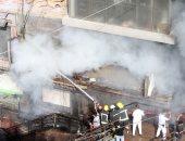 ندب الأدلة الجنائية لمعاينة حريق داخل شقة سكنية فى الموسكى لحصر الخسائر