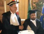 شاهد.. جامعة تورينو الإيطالية تمنح حاكم الشارقة الدكتوراه الفخرية بالتنمية الحضرية