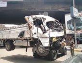 مصرع ربة منزل وإصابة ضابط فى واقعة سقوط سيارة على وحدة مرور العجوزة