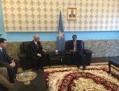 نائب وزير الخارجية يلتقى الرئيس الصومالى فى مستهل زيارته لمقديشيو