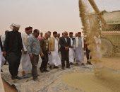 فيديو وصور .. محافظ مطروح يتابع حصاد القمح والشعير بمدينة النجيلة