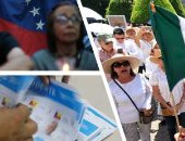 """صور.. العالم هذا الصباح.. رئيس المكسيك السابق يقود مسيرة ضد حكومة الرئيس الحالى فى ليون.. مظاهرة على """"ضوء الشموع"""" فى فنزويلا احتجاجا على ضحايا أعمال العنف.. الناخبون فى بنما يصوتون لاختيار رئيس جديد للبلاد"""