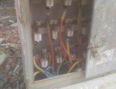 أهالى الحى التاسع بمدينة العبور يشكون من عدم وجود أغطية ببوكسات الكهرباء