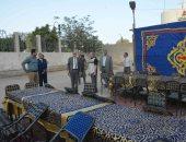 """صور.. محافظ المنيا يتابع تجهيز """"الخيمة الرمضانية"""""""