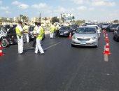 خدمات مرورية مكثفة فى محيط نزلة الرمد من كوبرى الجيزة المعدنى بسبب الإصلاحات