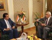 وزير التعليم العالى يستقبل السفير العراقى بالقاهرة