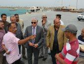 محافظ جنوب سيناء يتفقد ميناء الصيد والرصف الداخلى بالمدينة