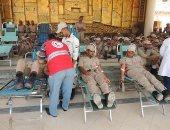 حملة للتبرع بالدم بمشاركة ضباط وأفراد ومجندى إدارة قوات الأمن بأسيوط