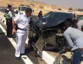 إصابة 6 أشخاص فى حادثى سير  ببنى سويف