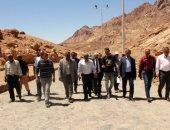 صور.. اللجنة العليا تتفقد أعمال المرحلة الأولى لتطوير وادى الدير بسانت كاترين