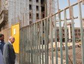 رئيس جامعة أسيوط يتفقد مشروع مستشفى الإصابات والحوادث الجامعى الجديد
