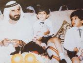 """""""مش أول مرة"""".. ولى عهد دبى يستعيد الذكريات مع والده وشقيقه الراحل × صورة"""