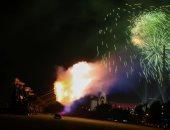 صور.. الألعاب النارية تزين سماء موسكو فى عيد النصر